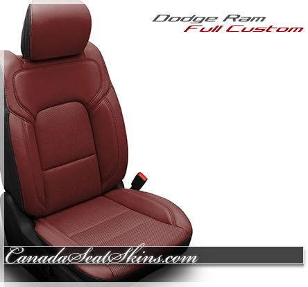 2019 Ram Red Katzkin Leather Seats