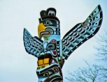 Close Up, KAKASO'LAS Pole, Stanley Park, Vancouver