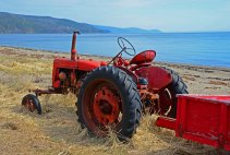 Tractor Along the St. Lawrence, Charlevoix Region, Quebec