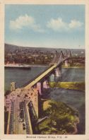 Montreal Harbor Bridge, Postmarked 1941