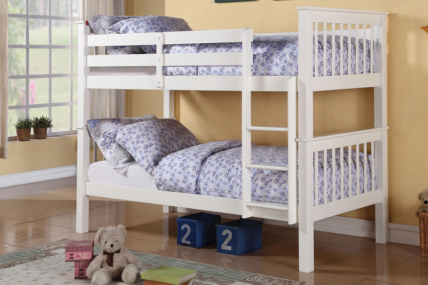 2500w White Single Single Bunk Bed Canada Sleep Paradise