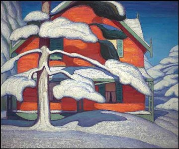 Pine Treee and Red House - 1924