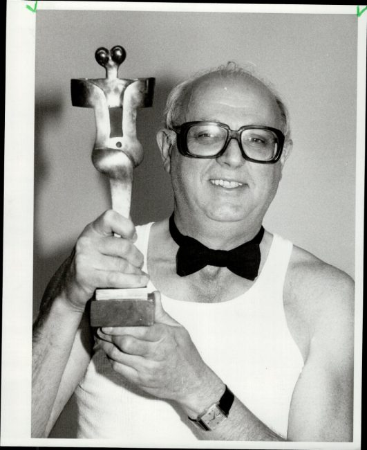 Etrog with the original Genie. From Toronto Star archives. Photo by John Mahler