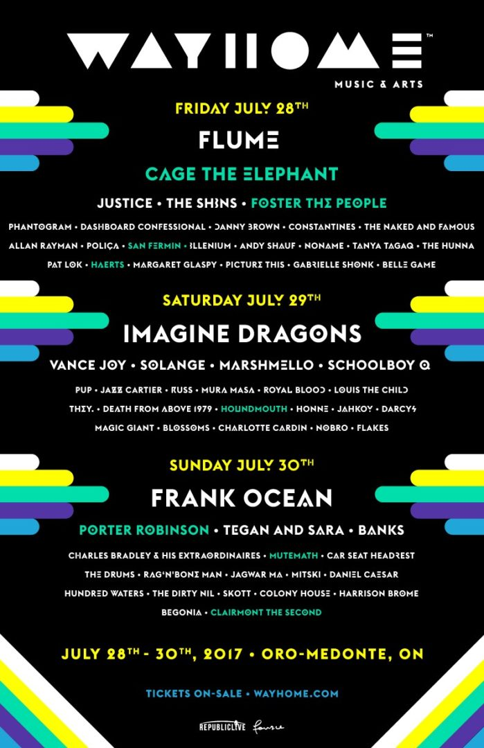 WayHome announces lineup additions for 2017