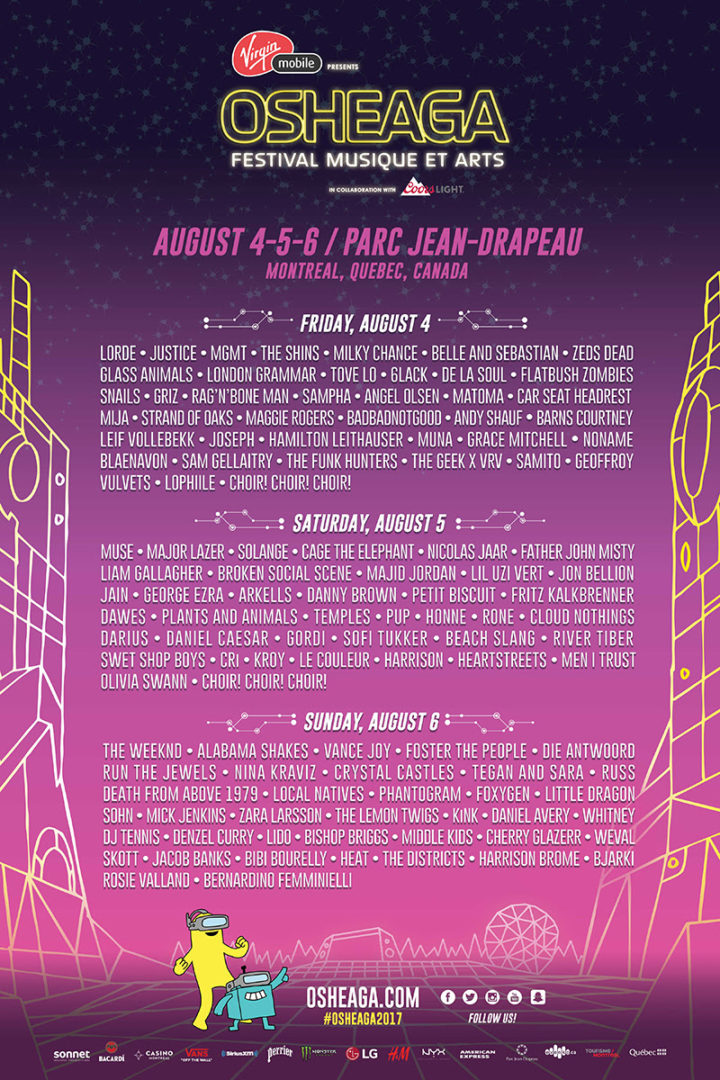 Osheaga releases daily lineup