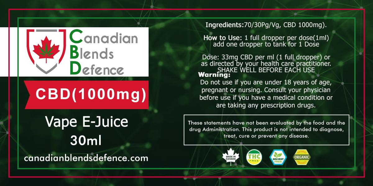 1000 Mg CBD Vape E-Juice