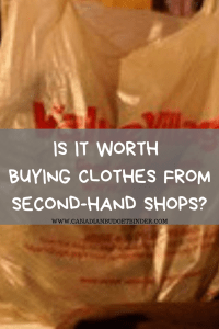 second-hand shops clothing