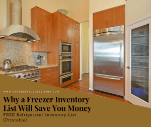 Freezer Inventory List- Why A List Is A Smart Savings Move