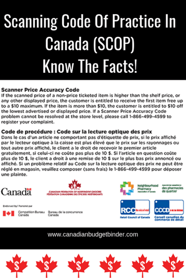 Scanning Code of Practice (SCOP) In Canada   Did You Know