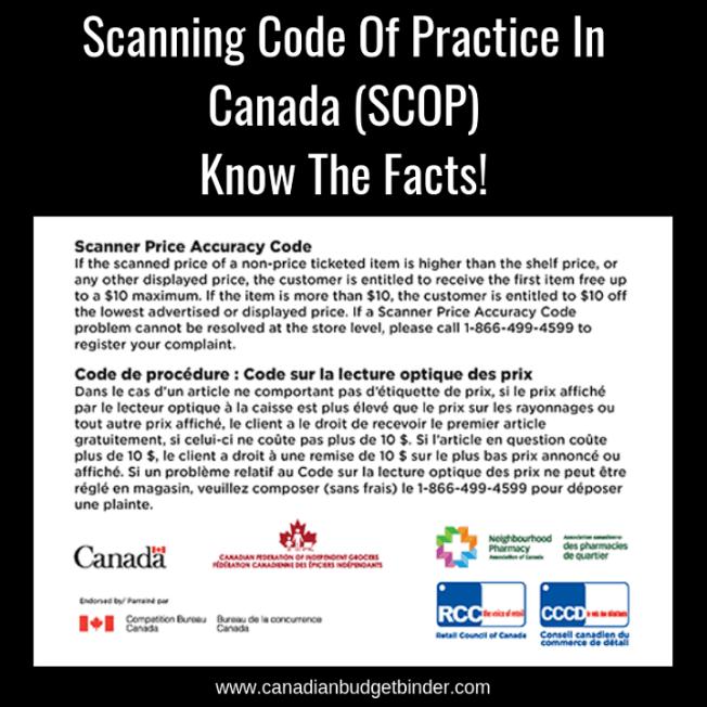 Scanning Code Of Practice In Canada (SCOP)