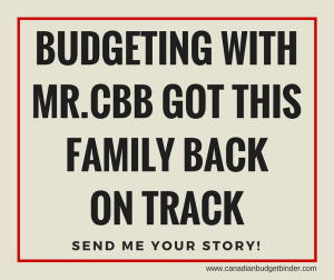 Budgeting With Mr.CBB Got Us Back On Track!