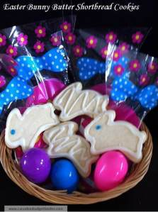 Easter Bunny Butter Shortbread Cookies With Lemon Drizzle