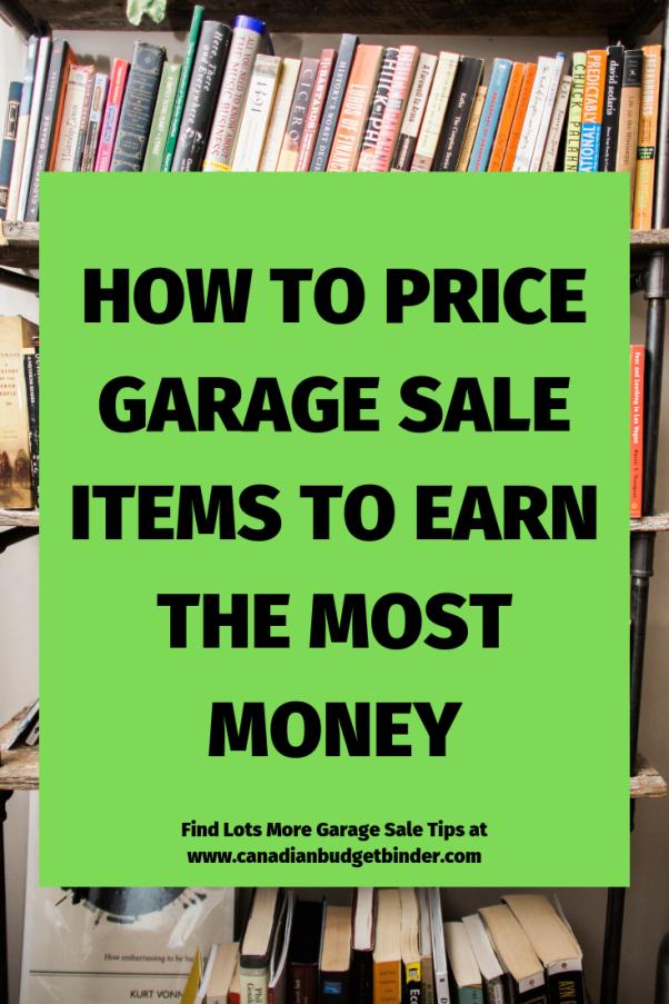 price garage sale items