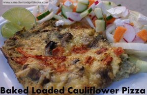 Baked Loaded Cauliflower Pizza