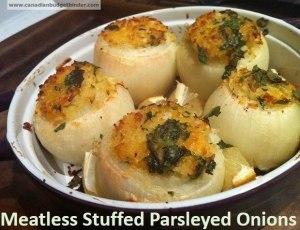 Meatless Stuffed Parsleyed Onions