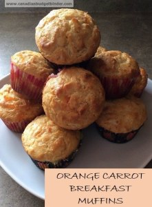 Orange & Carrot Breakfast Muffin
