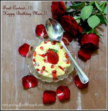 Indian style fruit custard