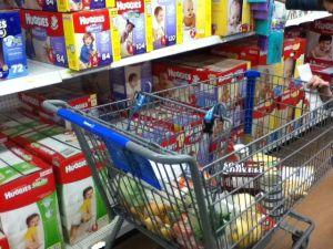 rush grocery shopping cart