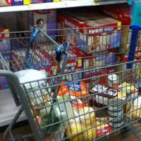 short on cash shopping cart wal-mart