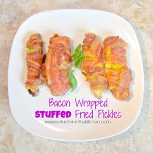 Bacon Wrapped Stuffed Pickles