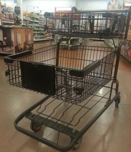 empty grocery shopping cart