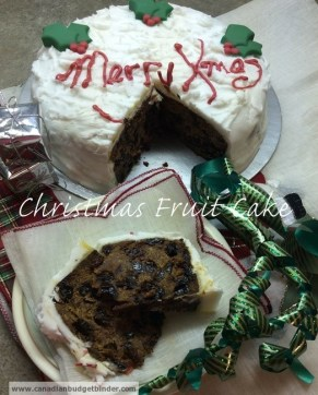 Christmas Cake Fruit and Nut Filled