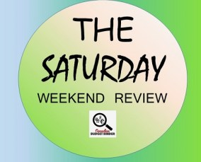The Saturday Weekend Review logo- first cell phone