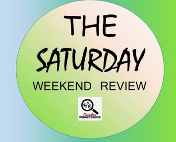 The Saturday Weekend Review logo- shopaholic game