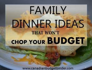 family dinner ideas that won't chop the budget 2