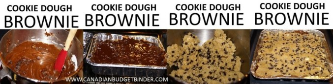 how to make chocolate chip cookie dough brownies