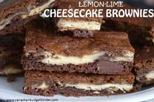 lemon lime cheesecake brownies c