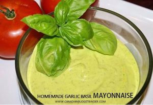homemade garlic basil mayonnaise 2