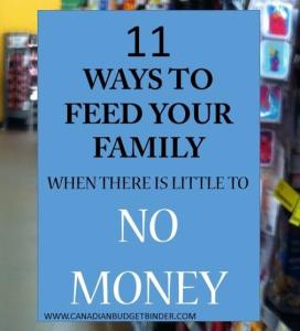 11 Ways to Feed Your Family When You Have Little to No Money : The Grocery Game Challenge #3 Aug 17-23, 2015