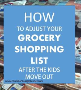 how to adjust your grocery shopping list after the kids move out