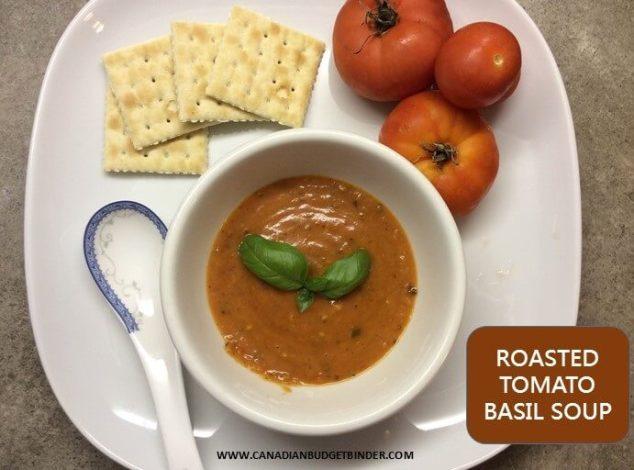 roasted tomato basil soup