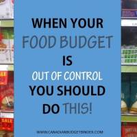 when your food budget is out of control you should do this(1)