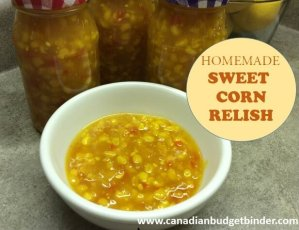 Homemade Sweet Corn Relish