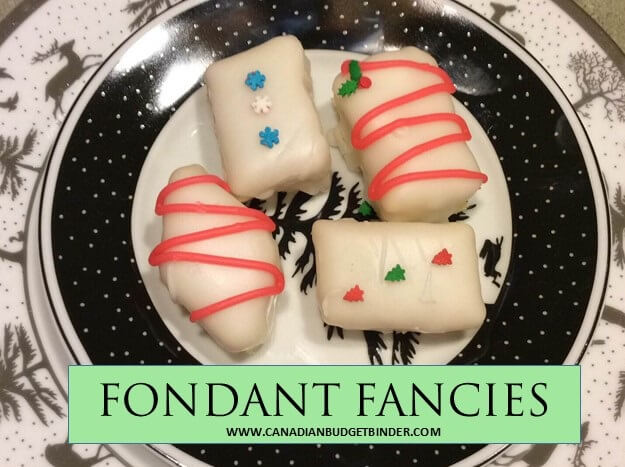Christmas FONDANT FANCIES