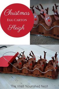 egg carton reindeer sleigh kids crafts(1)