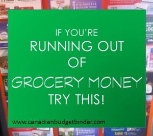 If You're Running Out Of Grocery Money Try This : The Grocery Game Challenge #5 Nov 30-Dec 6, 2015