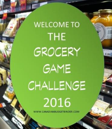 THE GROCERY GAME CHALLENGE 2016 CANADIAN BUDGET BINDER(1)- Food Cost 2016