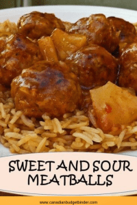 sweet and sour meatballs pinterest