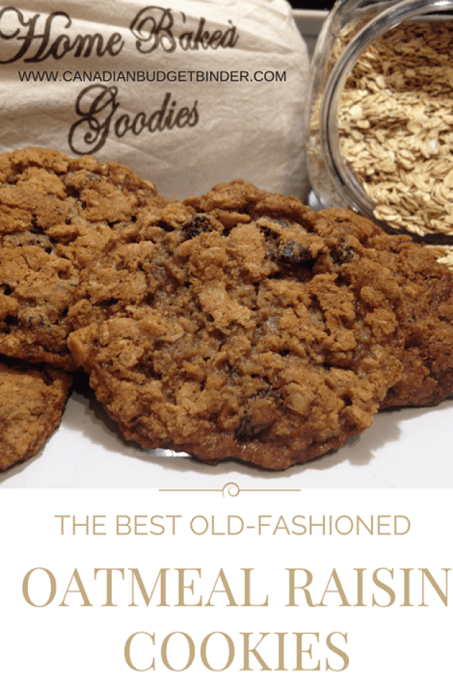 The best old-fashioned oatmeal raisin cookies