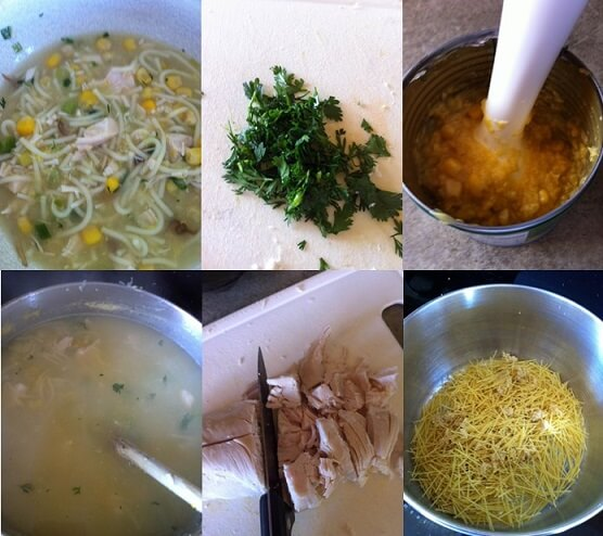 how to make chicken corn soup