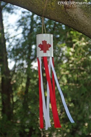 Canada Flag Windsock Canada Day Crafts for Kids