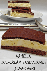 The Perfect Vanilla Ice-Cream Sandwich (Low-Carb)