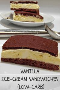 VANILLA ICE-CREAM SANDWICH (LOW-CARB)