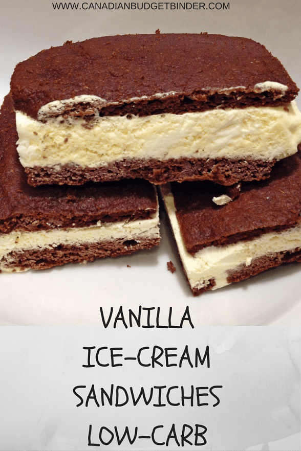 The Perfect Vanilla Ice-Cream Sandwich (Low-Carb) - Canadian Budget ...