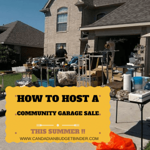how to host a community garage sale this summer