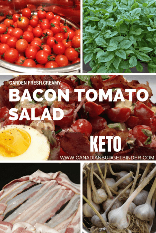 Keto Creamy Bacon Tomato Salad